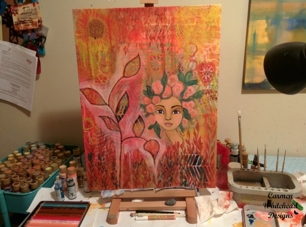 Work in progress in my studio www.carmenwhitehead.com