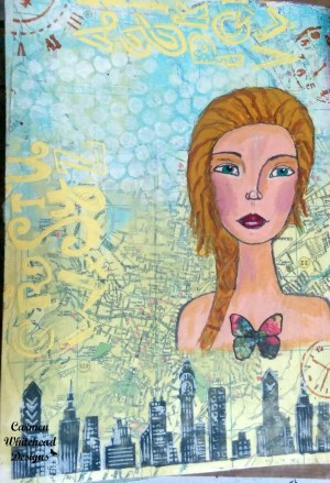 Art journaling 101: Collage backgrounds by www.carmenwhitehead.com