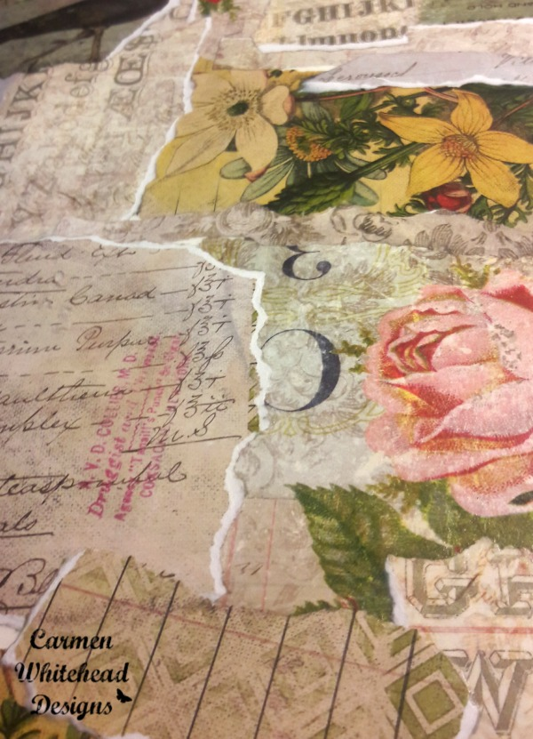 It's tea time with this art journal page - Carmen Whitehead Designs
