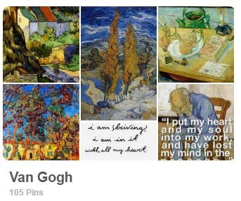 Vincent Van Gogh Pinterest board - Carmen Whitehead Designs