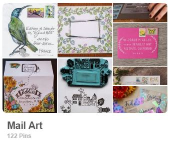 Mail art pinterest board