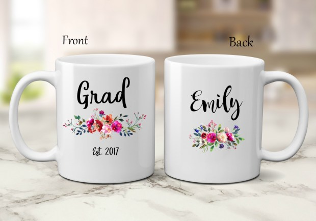 Graduation mug personalized created by The Mug Life Designs Etsy Shop