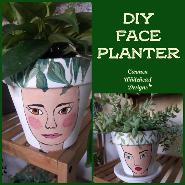 DIY Face Planter created by Carmen Whitehead Designs