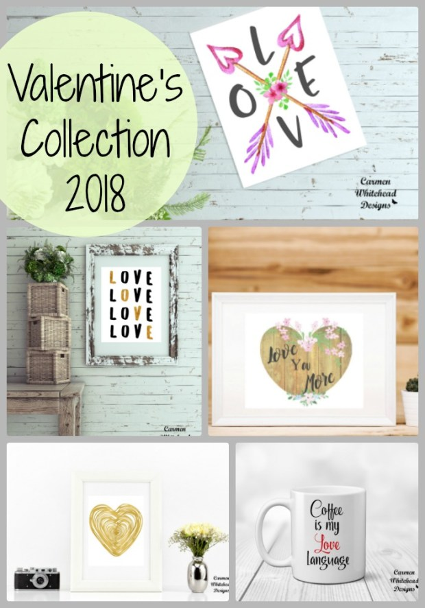 Valentine's Collection 2018 by Carmen Whitehead Designs