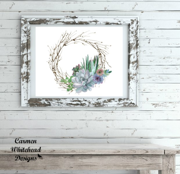 New Succulent Art Collection - Carmen Whitehead Designs