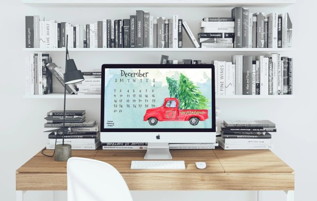 December 2018 Desktop Calendar - Carmen Whitehead Designs