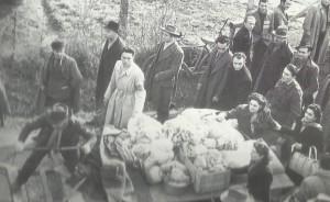 """30 gennaio 1948. Manifestazione di solidarietà con i lavoratori della """"Barbieri & Burzi""""."""