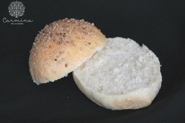 Pan de hamburguesa con aceite de oliva virgen extra