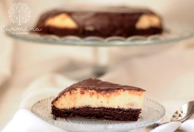 Bizcoflan de chocolate