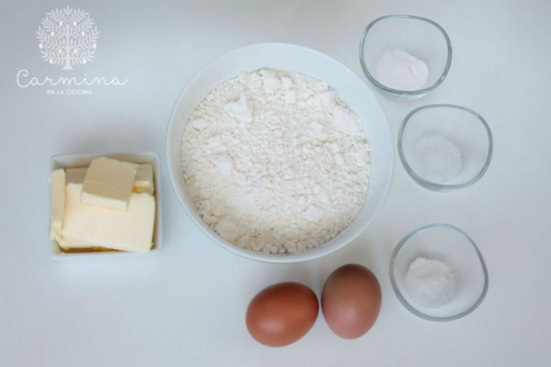Ingredientes masa quebrada