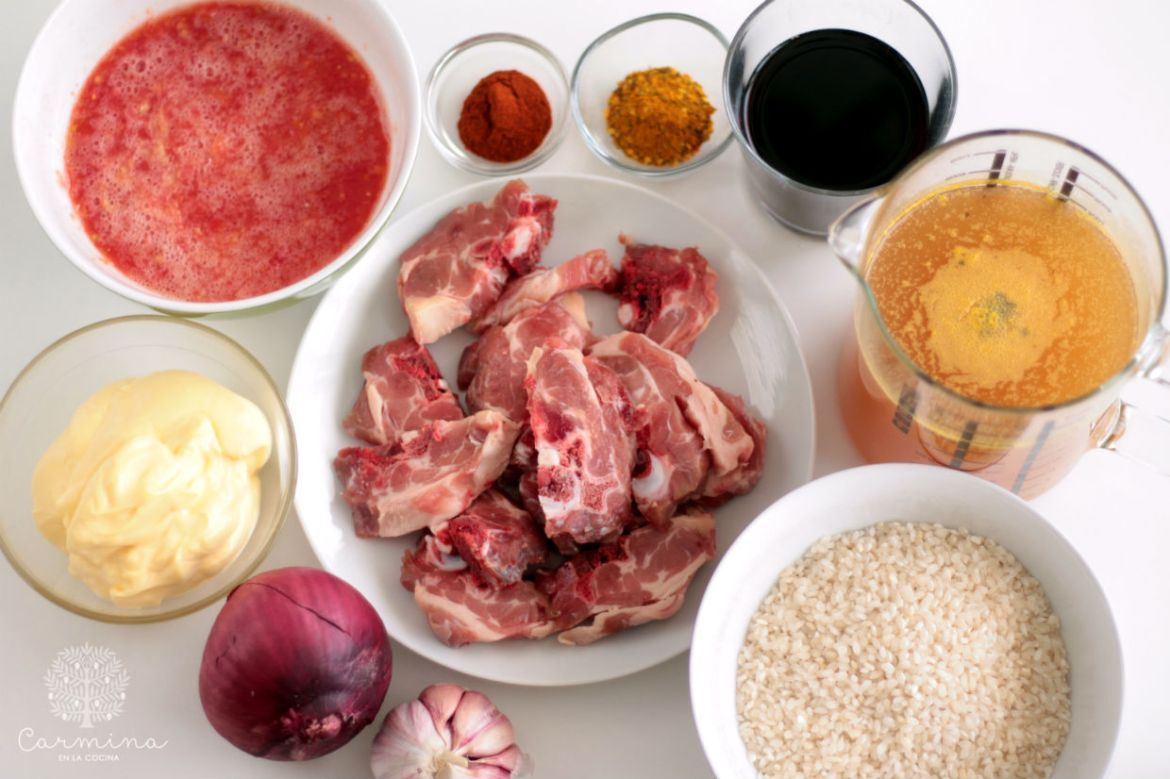 ingredientes arroz cordero alicurry