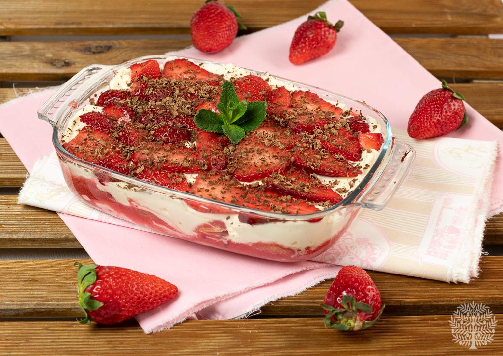El tiramisú de fresas más rico y fácil de preparar