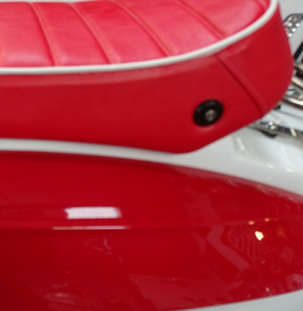 Red With White Pipping Bench Seat