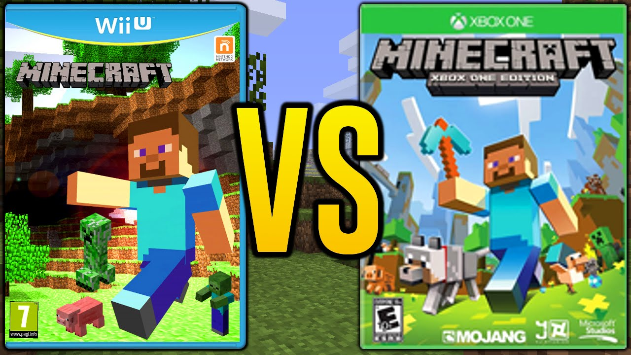 Minecraft Wii U Vs Minecraft Xbox 360 Amp Minecraft Xbox One