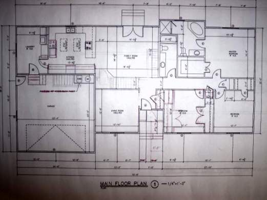 House Blueprints   Examples Blueprint example main floor