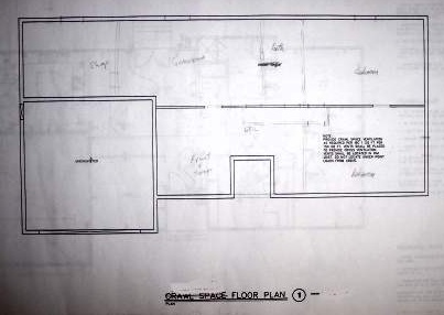 House Blueprints   Examples Blueprint example crawlspace
