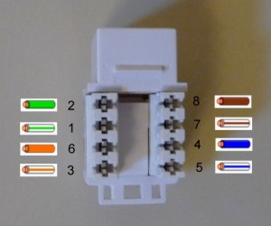 Help to match CAT6 colour order Wall Jack > RJ45