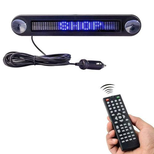 Uber/Lyft/Taxi Driver Mandatory,Dc 12v Remote Led Car Sign Programmable Scrolling Message Sign Board for Car, Shop, Store
