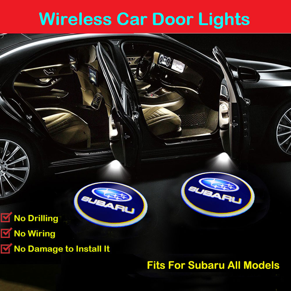 2Pcs Fit for Jeep door lights Wireless Car Door Led Welcome Laser Projector Logo Light,Ghost Shadow Light Lamp Logos for Jeep Car Accessories