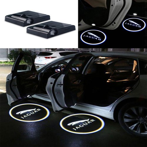 2 Pcs Wireless Car Door Led Welcome Laser Projector Jaguar Light Ghost Shadow Light Lamp Logos