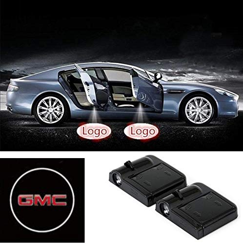 2 Pcs Wireless Car Door Led Welcome Laser Projector GMC Light Ghost Shadow Light Lamp Logos