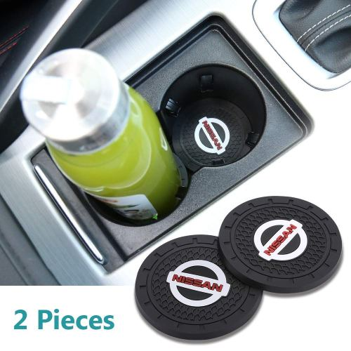 Auto sport 2.75 Inch Diameter Oval Tough Car Logo Vehicle Travel Auto Cup Holder Insert Coaster Can 2 Pcs Pack Fit Nissan Accessory