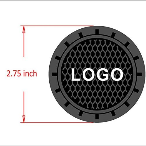 Auto sport 2.75 Inch Diameter Oval Tough Car Logo Vehicle Travel Auto Cup Holder Insert Coaster Can 2 Pcs Pack Fit Land Rover Accessory