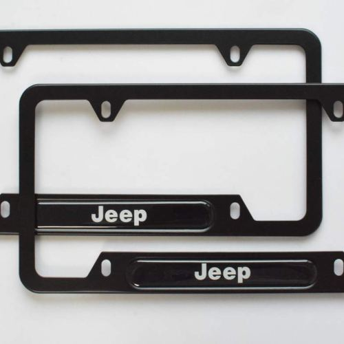 2-Pieces High-Grade License Plate Frame for Jeep,Applicable to US Standard car License Frame