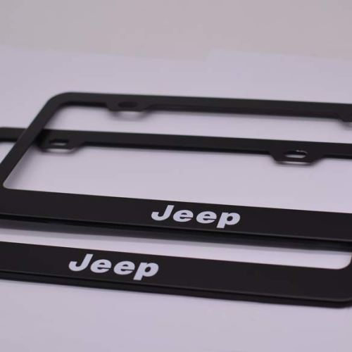 2pcs Newest Matte Aluminum Alloy License Plate Frame ,with Screw Caps Cover Set Suit,Applicable to US Standard car License Frame,FBA Fast Delivery