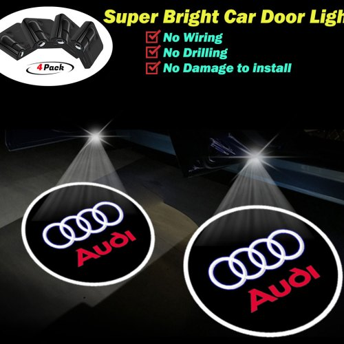 AUDI door lights logo