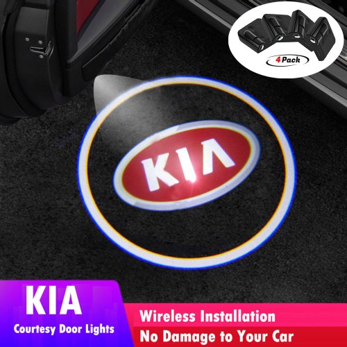 KIA door lights logo