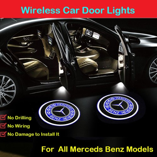 MERCEDES BENZ door lights logo