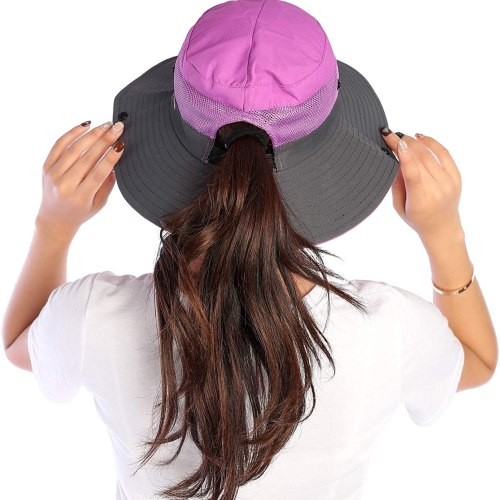VICSPORT Women Sun Hat Wide Brim Bucket Mesh Boonie Cap Outdoor Fishing Hats UV Protection