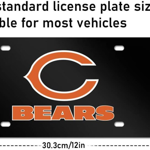 Black Chiefs Kansas City car tag Plate,Metal License Plate Frame for Kansas City Chiefs,Decorate Front License Plate Cover