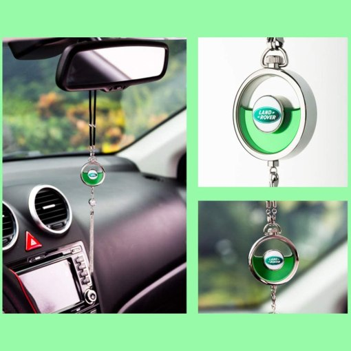 VILLSION Car Logo Air Freshener Diffuser Fragrance Scent Rearview Mirror Pendant Perfume for Car with Gift Box