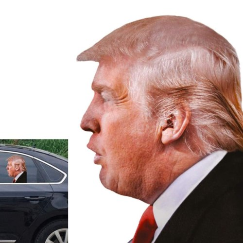 Toogod Trump 2020 Car Stickers,Window Decals for Vehicles,Window Cling Ride with Trump (for Left Side)