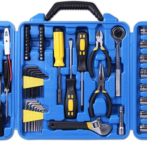 Cartman 122pcs Auto Tool Accessory Set, Tool Kit Set, Electric Tool Set, Drive Socket & Socket Wrench Sets