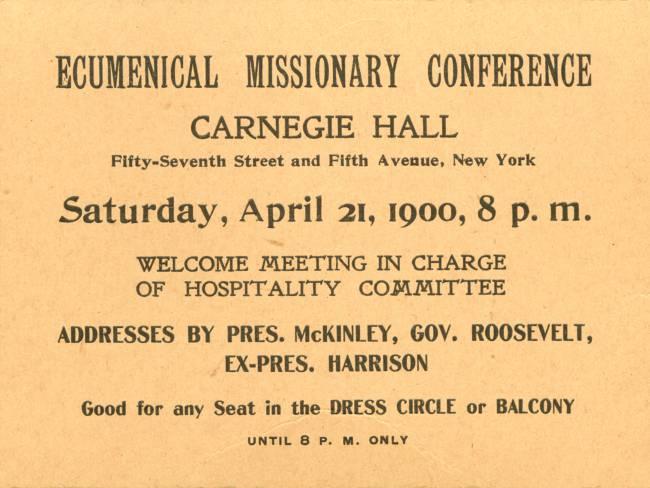 Resultado de imagen para Ecumenical Missionary Conference in Carnegie Hall,