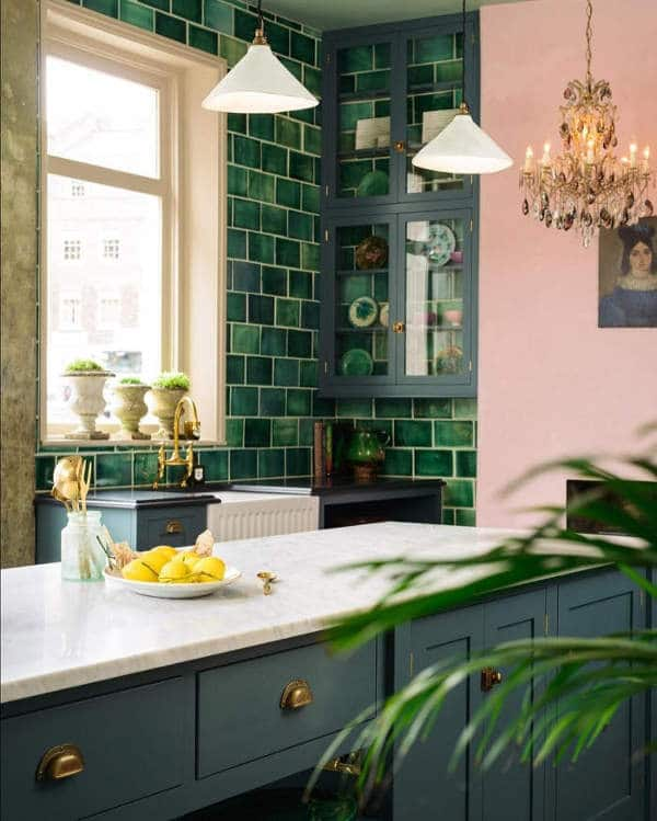 cuisine verte et rose une association