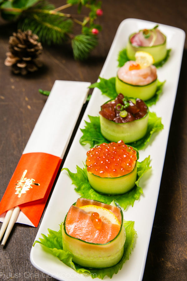 Cucumber-Wrapped-Sushi-jusonecookbook