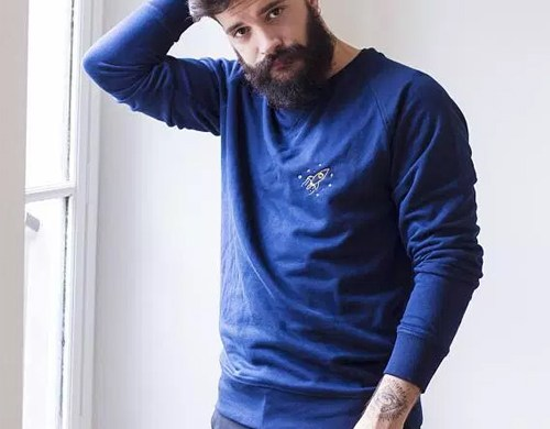 Sweat Homme brodé Planètes, Laurem Joy