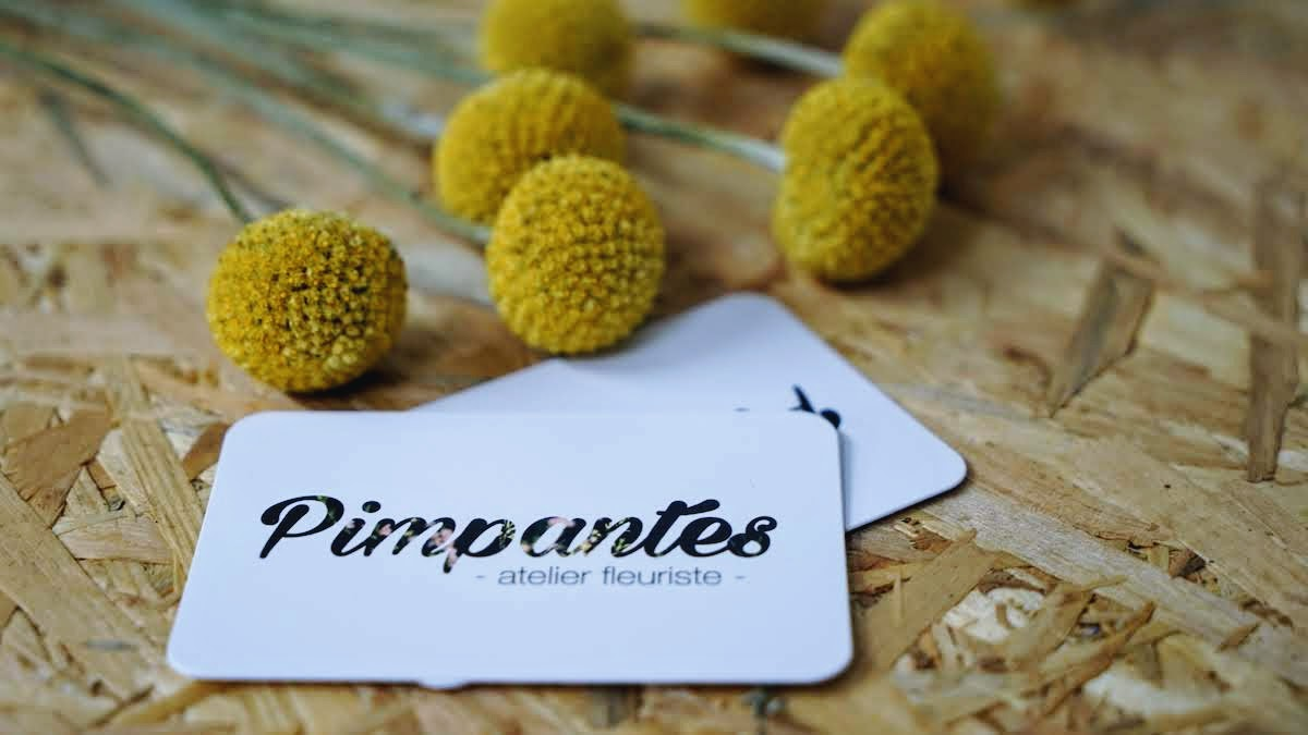 Pimpantes atelier fleuriste carte de visite