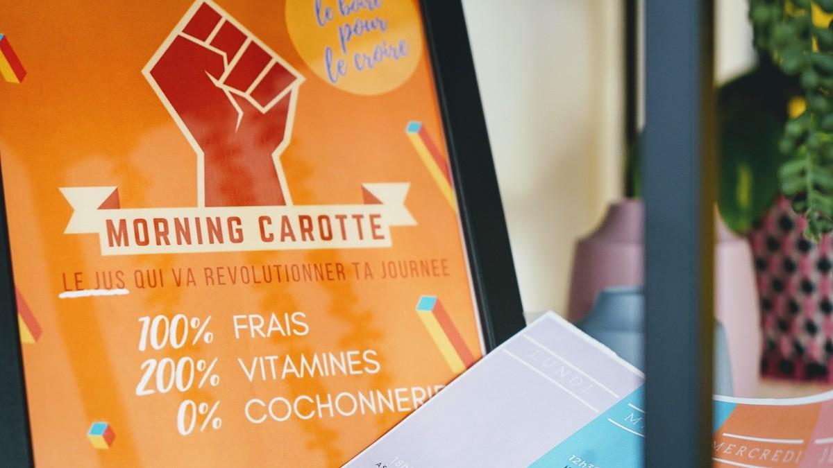 jus morning carotte