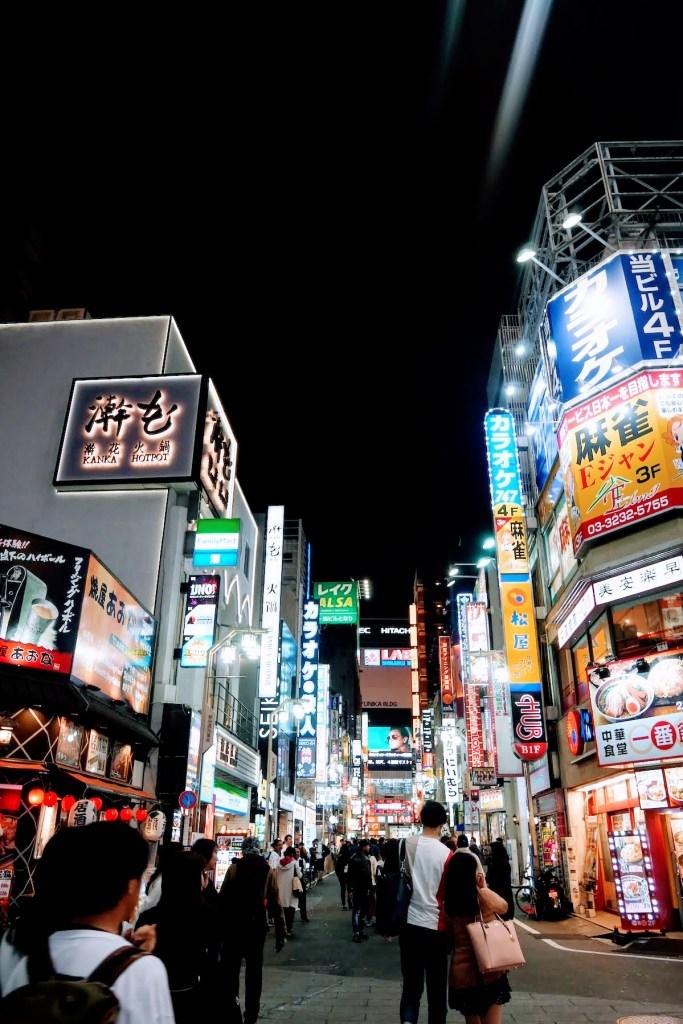 quartier de shibuya, tokyo, la nuit
