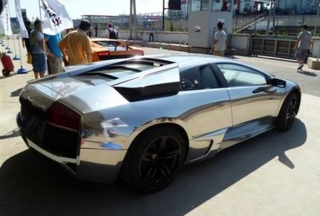 Chrome Lamborghini in China