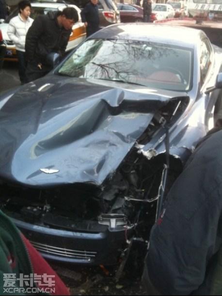 Aston Martin Rapide hits Audi Q5