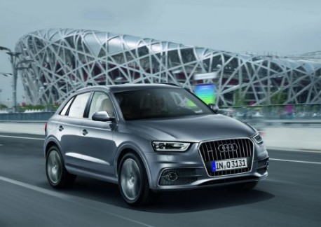 Audi Q3 Bird's Nest Beijing with German plates