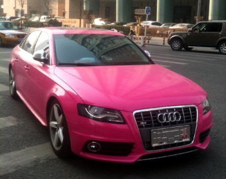 Pink Audi S4 China
