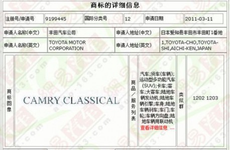 Toyota Camry Classical