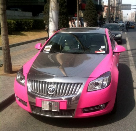Buick Regal in Pink & Silver in China